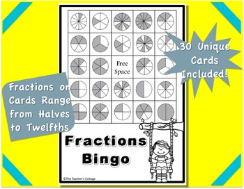 Fraction BINGO Card Set