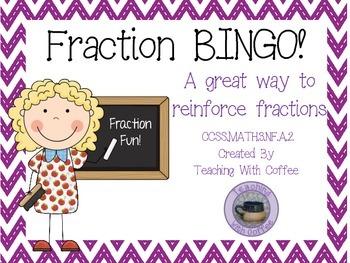 Fraction BINGO!  Fractions Reinforcement Activity