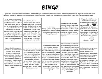 Fraction BINGO! Math Differentiation for Upper Elementary Students