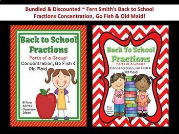Fractions Back to School Center Games Bundle