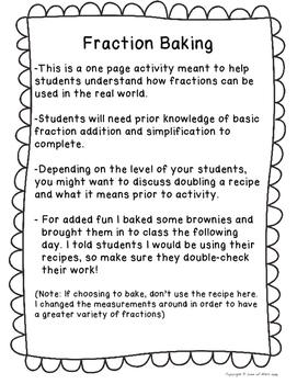 Fraction Baking Fun