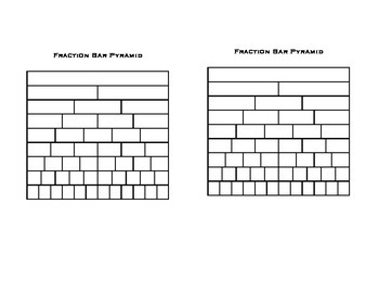 Fraction Bar Pyramid (two pyramids on page)