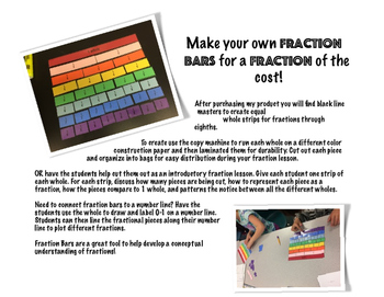 Make your own Fraction Bars and MORE!