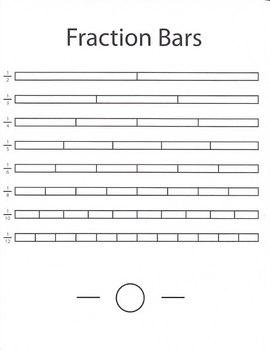 Fraction Bars Comparison Chart