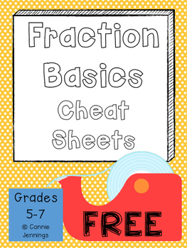Fraction Basic Operations and Comparing CHEAT SHEETS!