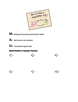 Fraction Basics Notes Packet