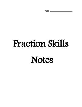 Fraction Basics Notes Packet