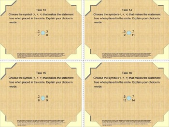 Fraction Basics Task Cards