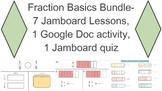 Fraction Basics Unit Bundle (8 assignments and 1 quiz) for