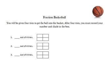 Fraction Basketball- Fourths