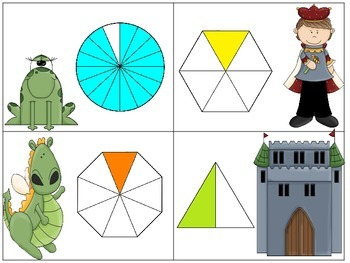 Fraction Battle:  A Game of Comparing Fractions (Fairy Tale Edition)