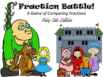 Fraction Battle:  A Game of Comparing Fractions (Fairy Tal