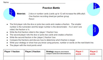 Fraction Battle Game - CCSS