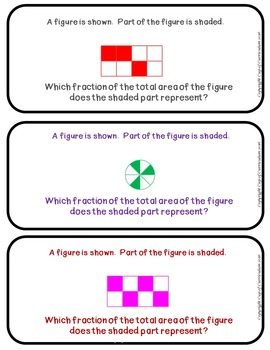 Fraction Task Cards - Third Grade (FSA & Common Core Aligned)