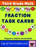 Fraction Task Cards 3rd grade