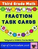 Fraction Task Cards for Third Grade