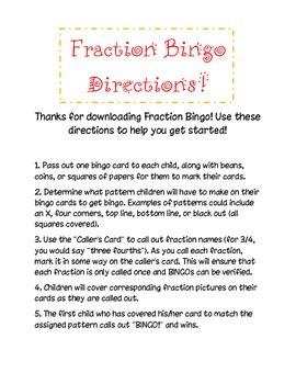 Fraction Bingo!
