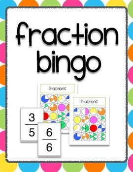 Fraction Bingo Math Center