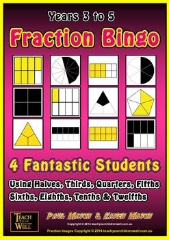 Fraction Bingo 4 Fantastic Students