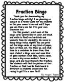 Fraction Bingo Activity