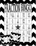 Fraction Bingo: Adding and Subtracting Fractions Unlike Denominators (Centers)