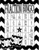 Fraction Bingo: Adding and Subtracting Fractions Unlike De