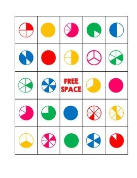 Fraction Bingo Cards