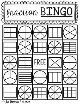 Fraction Bingo {Color In The Spaces}