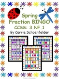 Fraction Bingo Game 3.NF.1 Plus Posters and Worksheets