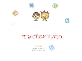 Fraction Bingo Game with PowerPoint