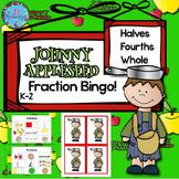 Fractions Kindergarten & First Grade Math Johnny Appleseed Bingo Activities