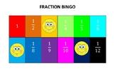 Fraction Bingo Mats