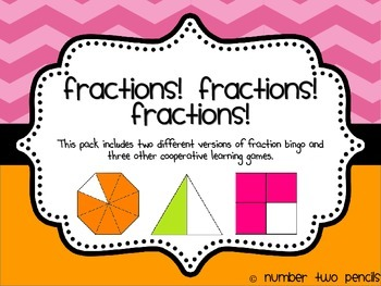 Fraction Bingo & Other Cooperative Learning Games