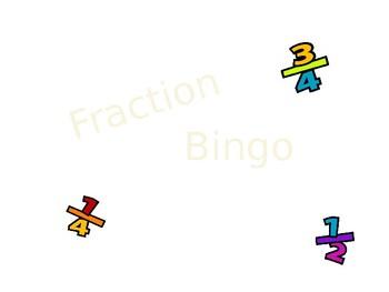 Fraction Bingo Powerpoint