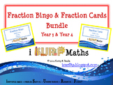 Fraction Bingo and Fraction Card Bundle