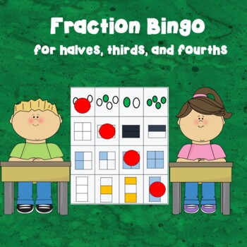 Fraction Bingo for Thirds, Halves, and Fourths