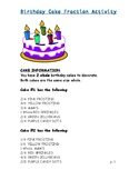 Fraction Birthday Cake Activity