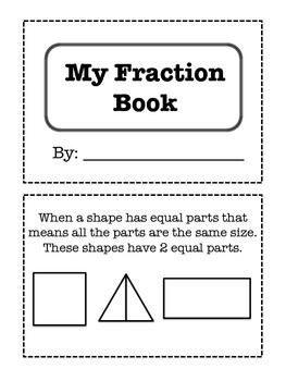 Fraction Book CCSS 1.G.3