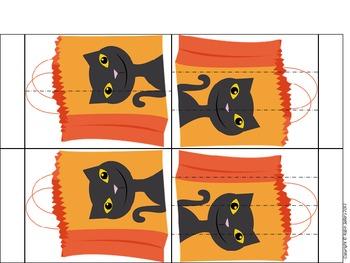 Fraction Book: {Halloween Themed Candy Bag Math Manipulative}