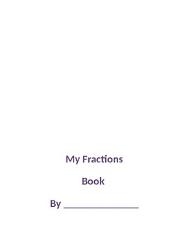 Fraction Book Printable