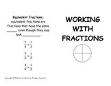 Fraction Book Student & Teacher