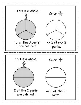 Fraction Booklet for Primary Grades