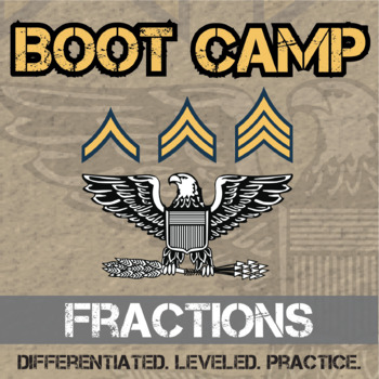 Fraction Boot Camp -- Differentiated Practice Assignments