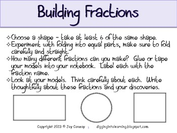 Fractions Building Concepts