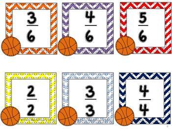Fraction Bump: Basketball Theme