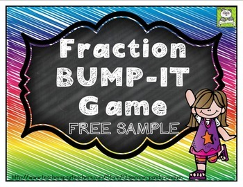 Fraction Bump-It Game FREE SAMPLE (CC Aligned)