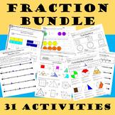 3rd Grade:Fractions Unit Bundle NF.1, NF.2 & NF.3