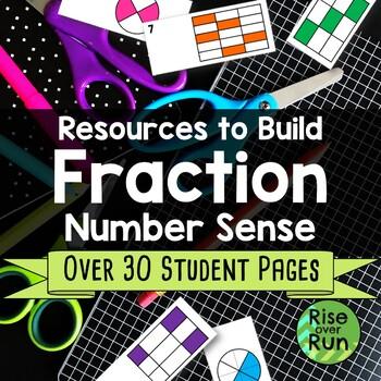 Fraction Number Sense Bundle, Basics with Models and Number Lines