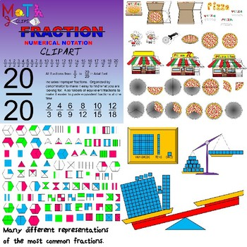 Fraction Bundle Clipart