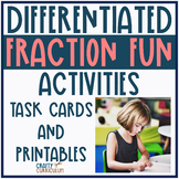 Fraction Pack Differentiated ~ Task Cards and Printables Bundle!